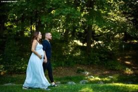 """Gaby and Christian Vazquez pose for maternity photos at Arnold Arboretum in Jamaica Plain, Massachusetts."""
