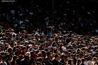 BOSTON, MA - SEPTEMBER 19: Fans look on during a game between the Boston Red Sox and the San Francisco Giants on September 19, 2019 at Fenway Park in Boston, Massachusetts. (Photo by Billie Weiss/Boston Red Sox/Getty Images) *** Local Caption ***