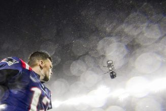 FOXBOROUGH, MA - OCTOBER 27: Tom Brady #12 of the New England Patriots runs off the field after a game against the Cleveland Browns at Gillette Stadium on October 27, 2019 in Foxborough, Massachusetts. (Photo by Billie Weiss/Getty Images) *** Local Caption *** Tom Brady