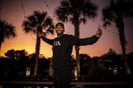 FORT LAUDERDALE, FL - DECEMBER 3: J.D. Martinez #28 of the Boston Red Sox poses for a portrait as the sun sets at his home on December 3, 2019 at in Fort Lauderdale, Florida. (Photo by Billie Weiss/Boston Red Sox/Getty Images) *** Local Caption *** J.D. Martinez