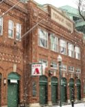 BOSTON, MA - DECEMBER 17: The Jersey Street facade is displayed as snow falls on December 17, 2019 at Fenway Park in Boston, Massachusetts. (Photo by Billie Weiss/Boston Red Sox/Getty Images) *** Local Caption ***
