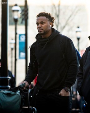 SPRINGFIELD, MA - JANUARY 17: Xander Bogaerts #2 of the Boston Red Sox arrives during the 2020 Red Sox Winter Weekend on January 17, 2020 at MGM Springfield and MassMutual Center in Springfield, Massachusetts. (Photo by Billie Weiss/Boston Red Sox/Getty Images) *** Local Caption *** Xander Bogaerts
