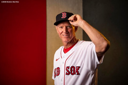 FT. MYERS, FL - FEBRUARY 11: Ron Roenicke of the Boston Red Sox poses for a portrait after being announced as the Boston Red Sox Interim Manager on February 11, 2020 at JetBlue Park at Fenway South in Fort Myers, Florida. (Photo by Billie Weiss/Boston Red Sox/Getty Images) *** Local Caption *** Ron Roenicke