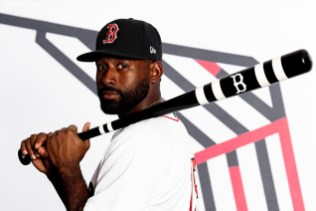 FT. MYERS, FL - FEBRUARY 19: Jackie Bradley Jr. #19 of the Boston Red Sox poses for a portrait during team photo day on February 19, 2020 at jetBlue Park at Fenway South in Fort Myers, Florida. (Photo by Billie Weiss/Boston Red Sox/Getty Images) *** Local Caption *** Jackie Bradley Jr.