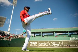 FT. MYERS, FL - FEBRUARY 27: J.D. Martinez #28 of the Boston Red Sox warms up before a Grapefruit League game against the Philadelphia Phillies on February 27, 2020 at jetBlue Park at Fenway South in Fort Myers, Florida. (Photo by Billie Weiss/Boston Red Sox/Getty Images) *** Local Caption *** J.D. Martinez