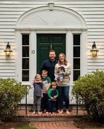 """""""Family portraits as part of the Front Porch Project during the Coronavirus pandemic in Massachusetts Wednesday, April 29, 2020."""""""