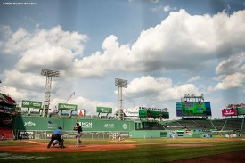 BOSTON, MA - JULY 25: A general view during a game between the Boston Red Sox and the Baltimore Orioles on July 25, 2020 at Fenway Park in Boston, Massachusetts. The Major League Baseball season was delayed due to the coronavirus pandemic. (Photo by Billie Weiss/Boston Red Sox/Getty Images) *** Local Caption ***
