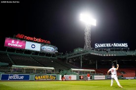 BOSTON, MA - SEPTEMBER 22: Nick Pivetta #37 of the Boston Red Sox warms up before a game against the Baltimore Orioles on September 22, 2020 at Fenway Park in Boston, Massachusetts. It was his Boston Red Sox debut. The 2020 season had been postponed since March due to the COVID-19 pandemic. (Photo by Billie Weiss/Boston Red Sox/Getty Images) *** Local Caption *** Nick Pivetta