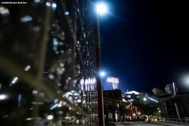 BOSTON, MA - SEPTEMBER 23: A general view of the Jersey Street facade during a game between the Boston Red Sox and the Baltimore Orioles on September 23, 2020 at Fenway Park in Boston, Massachusetts. The 2020 season had been postponed since March due to the COVID-19 pandemic. (Photo by Billie Weiss/Boston Red Sox/Getty Images) *** Local Caption ***
