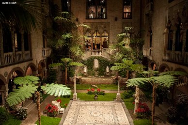 """The courtyard is shown during a 'Winter Solstice' themed Third Thursdays at the Isabella Stewart Gardner Museum in Boston, Massachusetts Thursday, December 18, 2014."""