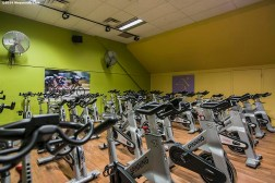 """The spin cycle studio is shown at the Weymouth Club Tennis & Fitness Center in Weymouth, Massachusetts Sunday, December 21, 2014."""