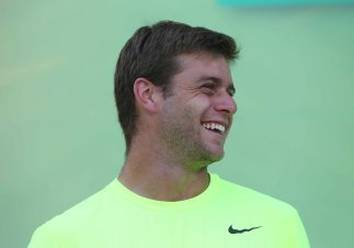 """""""Ryan Harrison participates in the ATP draw ceremony at the Indian Wells Tennis Garden in Indian Wells, California Tuesday, March 10, 2015."""""""