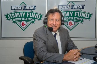 August 19, 2015, Boston, MA: Boston Red Sox chairman Tom Werner appears on set during the WEEI NESN Jimmy Fund Radio-Telethon at Fenway Park in Boston, Massachusetts Wednesday, August 19, 2015. (Photo by Billie Weiss/Boston Red Sox)