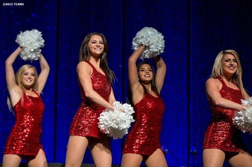 """The dance team performs at SportsTravel Awards Gala at the Thomas & Mack Center during the TEAMS Conference & Expo Las Vegas, Nevada Wednesday, November 11, 2015."""