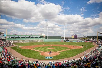 February 29, 2016, Fort Myers, FL: The field is shown during an exhibition game between the Boston Red Sox and Boston College at JetBlue Park in Fort Myers, Florida Monday, February 29, 2016. (Photos by Billie Weiss/Boston Red Sox)