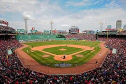 BOSTON, MA - APRIL 11: A general view during the Boston Red Sox home opener against the Baltimore Orioles on April 11, 2016 at Fenway Park in Boston, Massachusetts . (Photo by Billie Weiss/Boston Red Sox/Getty Images) *** Local Caption ***