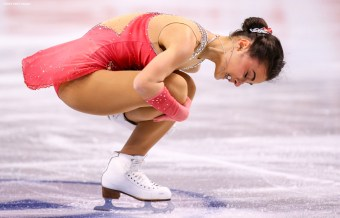 BOSTON, MA - MARCH 31: Ivett Toth of Hungary competes during Day 4 of the ISU World Figure Skating Championships 2016 at TD Garden on March 31, 2016 in Boston, Massachusetts. (Photo by Billie Weiss - ISU/ISU via Getty Images) *** Local Caption ***