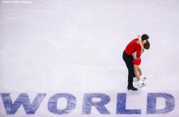 BOSTON, MA - APRIL 1: Meagan Duhamel and Eric Radford of Canada compete during Day 5 of the ISU World Figure Skating Championships 2016 at TD Garden on April 1, 2016 in Boston, Massachusetts. (Photo by Billie Weiss - ISU/ISU via Getty Images) *** Local Caption *** Meagan Duhamel; Eric Radford