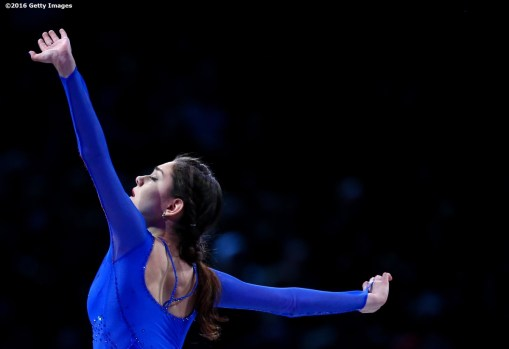BOSTON, MA - APRIL 3: Evgenia Medvedeva of Russia performs during the exhibition of champions during Day 7 of the ISU World Figure Skating Championships 2016 at TD Garden on April 3, 2016 in Boston, Massachusetts. (Photo by Billie Weiss - ISU/ISU via Getty Images) *** Local Caption *** Evgenia Medvedeva