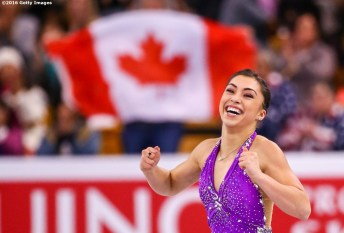 BOSTON, MA - MARCH 31: Gabrielle Daleman of Canada competes during Day 4 of the ISU World Figure Skating Championships 2016 at TD Garden on March 31, 2016 in Boston, Massachusetts. (Photo by Billie Weiss - ISU/ISU via Getty Images) *** Local Caption *** Gabrielle Daleman
