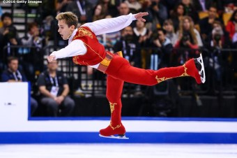 BOSTON, MA - APRIL 1: Michael Vrezina of the Czech Republic competes during Day 5 of the ISU World Figure Skating Championships 2016 at TD Garden on April 1, 2016 in Boston, Massachusetts. (Photo by Billie Weiss - ISU/ISU via Getty Images) *** Local Caption *** Michael Vrezina