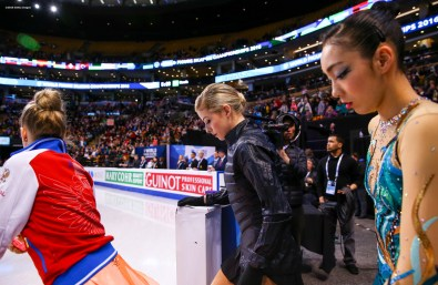 BOSTON, MA - MARCH 31: Gracie Gold of the United States takes the ice to warm up before competing during Day 4 of the ISU World Figure Skating Championships 2016 at TD Garden on March 31, 2016 in Boston, Massachusetts. (Photo by Billie Weiss - ISU/ISU via Getty Images) *** Local Caption *** Gracie Gold