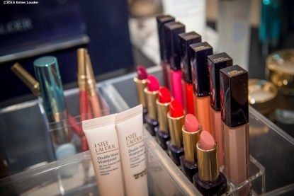 """""""Products are shown during the Estee Lauder Fabulous at Every Age event at Saks Fifth Avenue in Boston, Massachusetts Friday, April 22, 2016."""""""