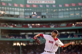 BOSTON, MA - JULY 5: David Price #24 of the Boston Red Sox warms up before a game against theTexas Rangers on July 5, 2016 at Fenway Park in Boston, Massachusetts. (Photo by Billie Weiss/Boston Red Sox/Getty Images) *** Local Caption *** David Price