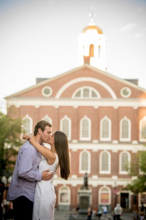 """""""The engagement of Ashley and John in Faneuil Hall in Boston, Massachusetts Monday, August 8, 2016."""""""