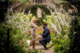 An engagement at the Isabella Stewart Gardner Museum in Boston, Massachusetts.