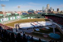 BOSTON, MA - JANUARY 14: Starting lineups are introduced before a Frozen Fenway game between University of Connecticut and University of Maine at Fenway Park on January 14, 2017 in Boston, Massachusetts. (Photo by Billie Weiss/Boston Red Sox/Getty Images) *** Local Caption ***