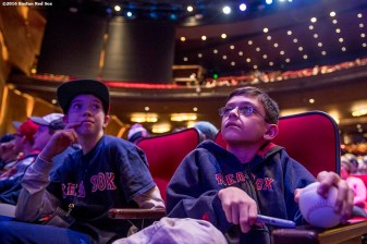 January 20, 2017, Ledyard, CT: Young fans look on at the sixth annual NESN Town Hall during during the 2017 Red Sox Winter Weekend at Foxwoods Resort & Casino in Ledyard, Connecticut Friday, January 20, 2017. (Photo by Billie Weiss/Boston Red Sox)