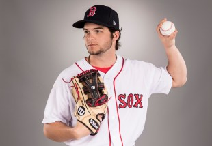 FT. MYERS, FL - FEBRUARY 19: Andrew Benintendi of the Boston Red Sox poses for a portrait during photo day on February 19, 2017 at Fenway South in Fort Myers, Florida . (Photo by Billie Weiss/Boston Red Sox/Getty Images) *** Local Caption *** Andrew Benintendi