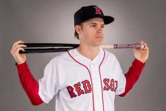 FT. MYERS, FL - FEBRUARY 19: Brock Holt of the Boston Red Sox poses for a portrait during photo day on February 19, 2017 at Fenway South in Fort Myers, Florida . (Photo by Billie Weiss/Boston Red Sox/Getty Images) *** Local Caption *** Brock Holt