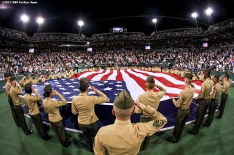Salutes to Heroes at the Indian Wells Tennis Garden in Indian Wells, California on Friday, March 10, 2017. (Photo by Billie Weiss/BNP Paribas Open)