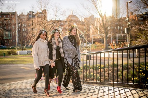April 18, 2017, Boston, MA: A photo shoot with Britt Ross and friends on the Esplanade in Boston, Massachusetts Tuesday, April 18, 2017. (Photo by Billie Weiss)