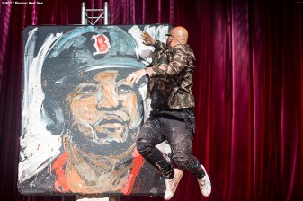 June 22, 2017, Boston, MA: Painter David Garibaldi performs during the Roast of David Ortiz, benefitting the David Ortiz Children's Fund, at House of Blues in Boston, Massachusetts Thursday, June 22, 2017. (Photo by Billie Weiss/Boston Red Sox)