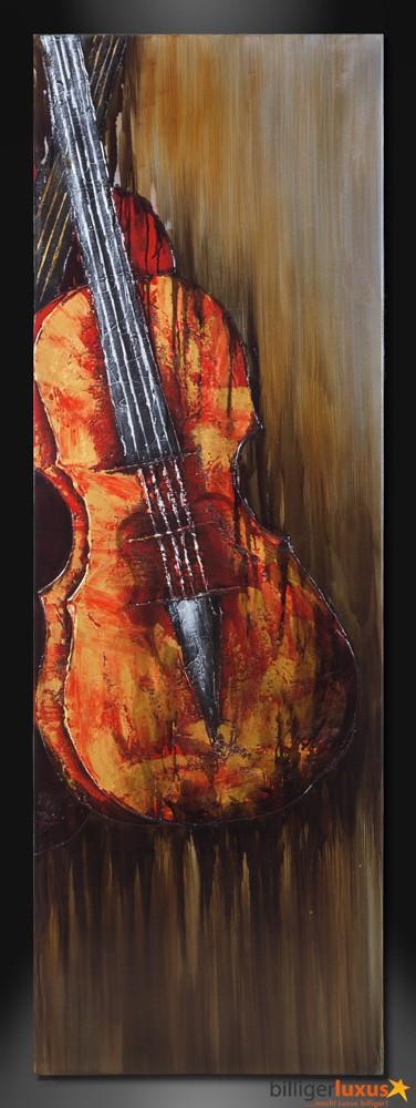 Original lgemlde Leinwand Violine Musik Geige Gemlde