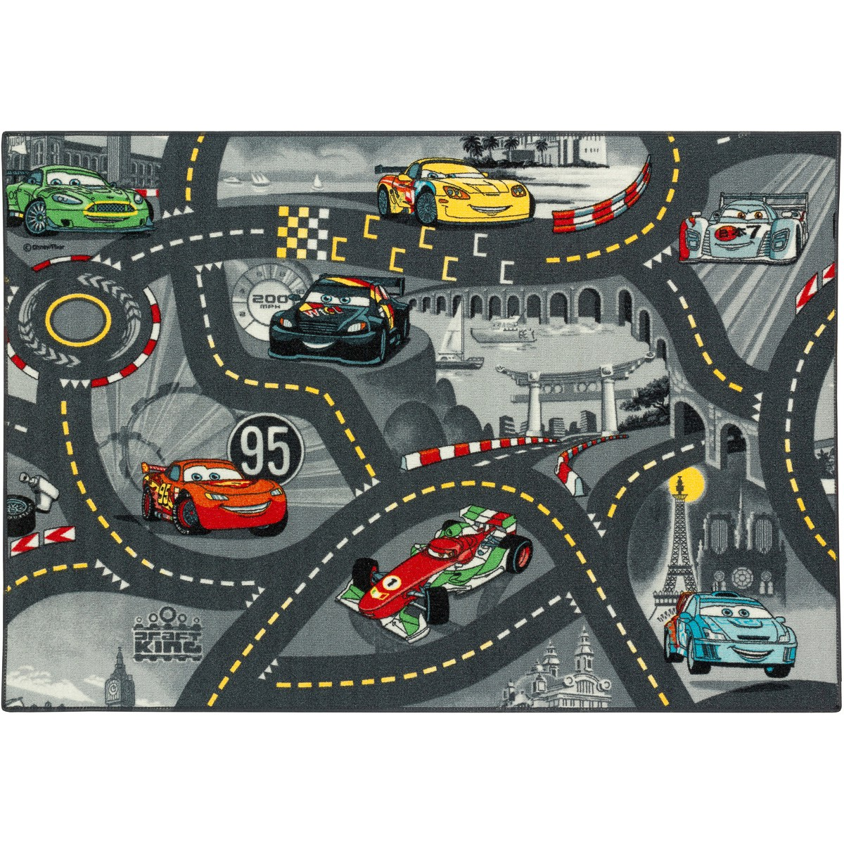 Cars Teppich Grau Teppich Kinderteppich Cars 2 World Of Cars Teppich