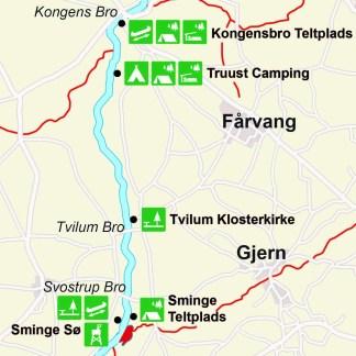 Book en 1-dags kanotur fra Sminge til Kongensbro