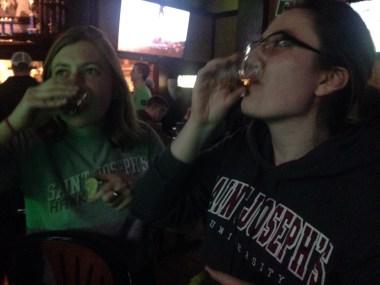 Celebratory tequila shots!