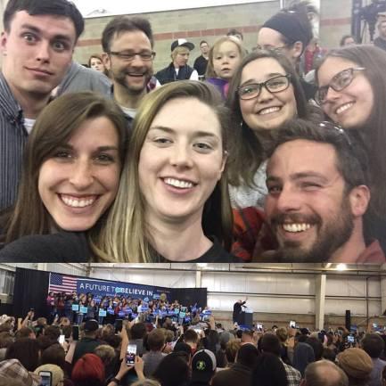 Friends and Bernie!