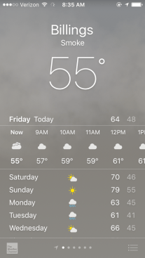 If you haven't lived out West, chances are your weather app has never looked like this.