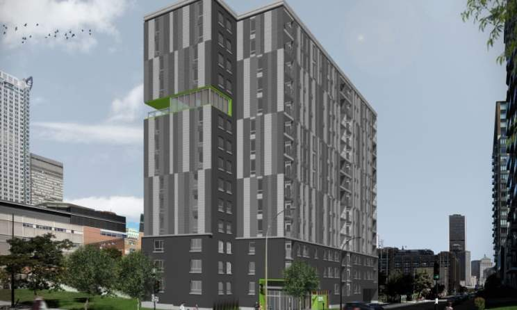 The Montagne verte cooperative will be built at the intersection of the streets of Montagne and Saint-Antoine in Montreal