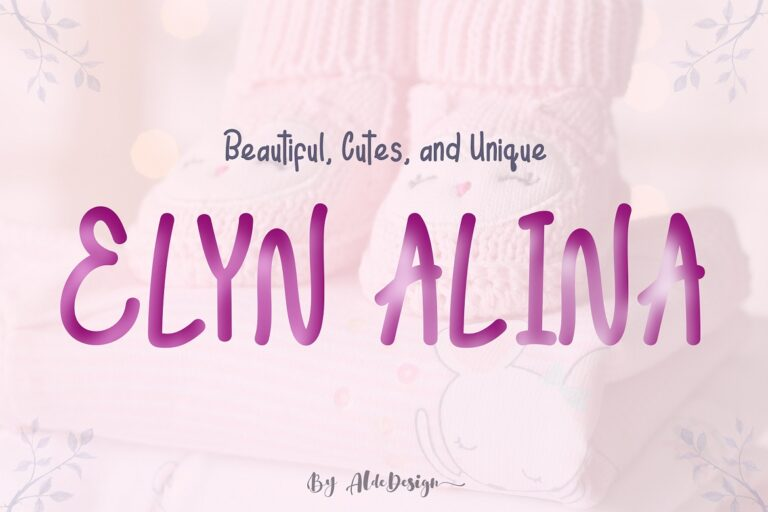 Preview image of Elyn Alina – Handmade Font