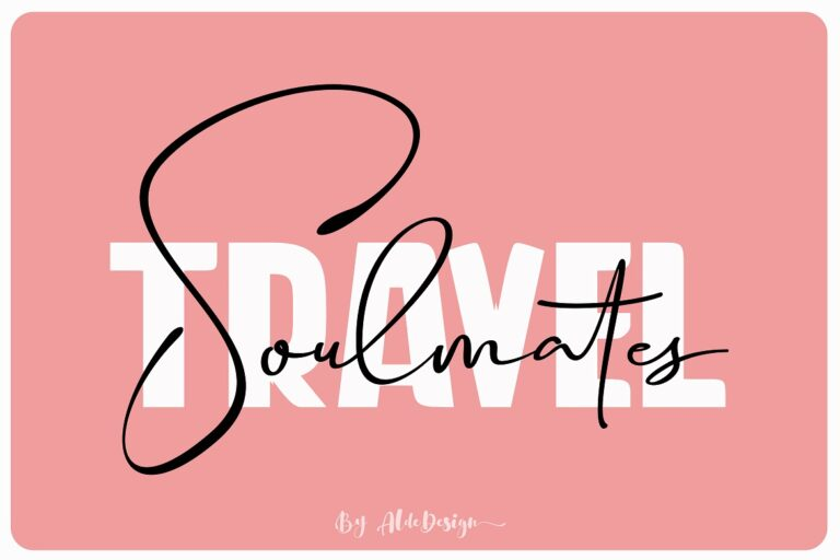 Preview image of Travel Soulmates // Font Duo