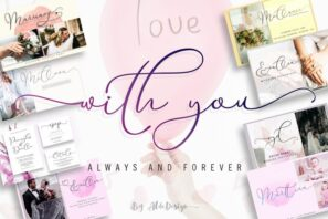 With You // Lovely Script Font