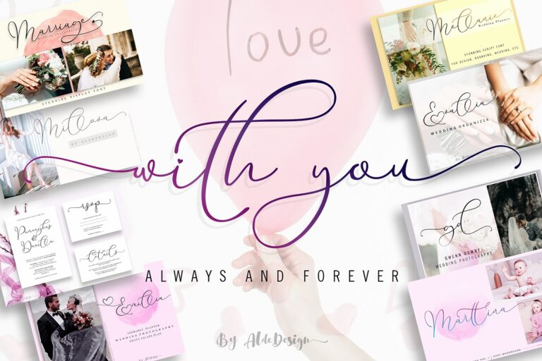 Preview image of With You // Lovely Script Font