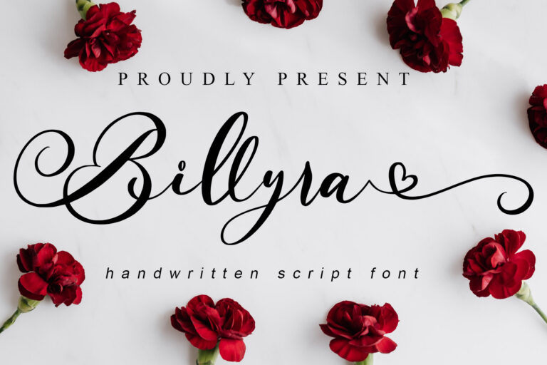 Preview image of Billyra – Wedding Font
