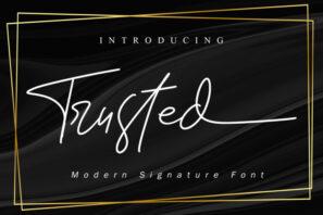 Trusted - Signature Font